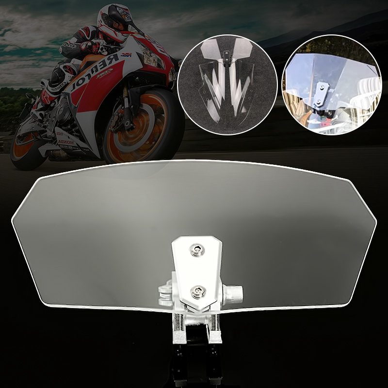 Universal Motorcycle Bike Wind Screen Deflector Motorbike Windshield Windscreen Мотоцикл