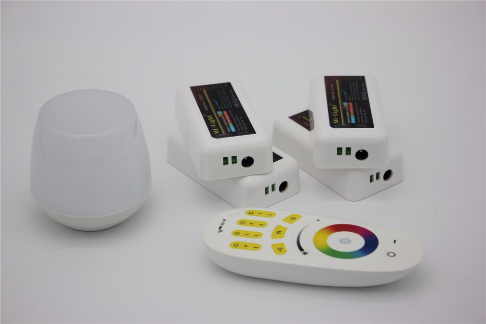 Controlador wifi led mi luz hub + rf toque 4 zona remota + 4 pcs 2.4G Controlador de LED para LED Strip RGB RGBW RGBWW 12 V 24 V navio Livre - 3