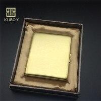 Luxury Classic Style Copper Knurling Process Cigarette Case Male Metal Cigarette Storage Box Bin For 9