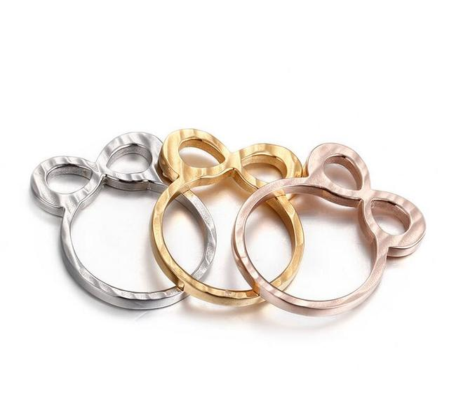 883c4fa4c7f7 Mujeres Hombres anillo 316l Acero inoxidable oro plata Rosa Oro 3 color 8  nudo en forma. Sitúa el cursor encima para ...