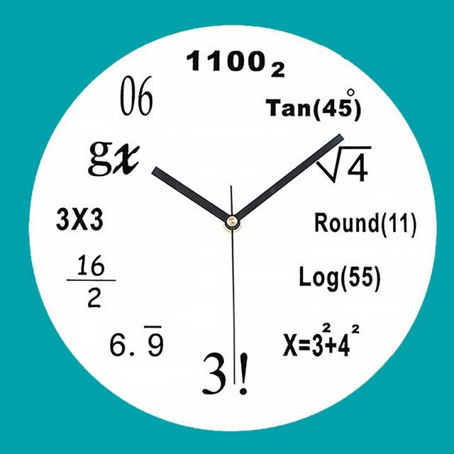 US $14 81 |Acrylic Wall Clock Maths Equation Modern Design Portugal Euro  Novelty Art Unique Watch Clock Home Decoration Accessorie-in Wall Clocks  from