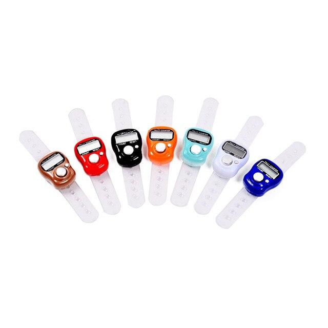 Мини стежка маркер и ряд Палец счетчик ЖК-дисплей электронной цифровой Талли счетчик для швейной Вязание weave инструмент