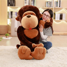 цены 1PC Giant Monkey Gibbon Orangutan Stuffed Doll Plush Toys Baby Sleeping Appease Animal Gorilla Doll Kids Birthday Christmas Gift