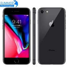 Original Entsperrt Apple iPhone 8 Smartphone 4,7 zoll 64 GB/256 GB ROM 2 GB RAM Hexa Core 12MP iOS LTE Fingerabdruck Mobilen telefon