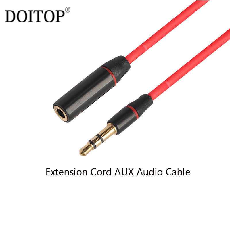 DOITOP 3.5mm Jack to Jack Male To Female Audio Cable Extension Cord AUX Audio Cable For Headphones Headset Microphone ETC 1.2m