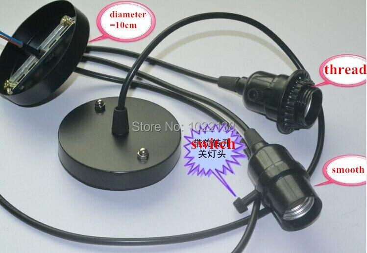 100 Stücke E27 Led Iq Puzzle Lampenfassung Ausgesetzt Anhänger Esszimmer Deckenleuchte Basis Sockel Adapter + Schalter + 1 Mt Netzkabel Kabel