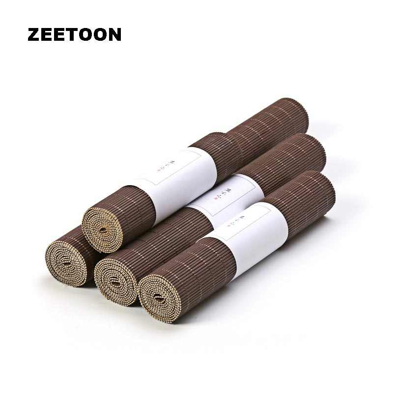 Zen Bamboo Weave Tea Mats Table Runners Curtains Table Cover Kung Fu Tea Set Accessories Vintage Home Decor Coffee Tablecloth