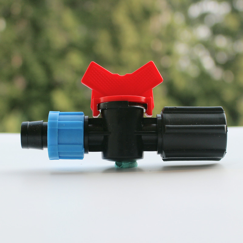 10pcs/pack 5/8 Loc Drip Tape x 1/2 Female Thread With Valve Garden Irrigation Micro Irrigation Drip Irrigation Fittings Y114