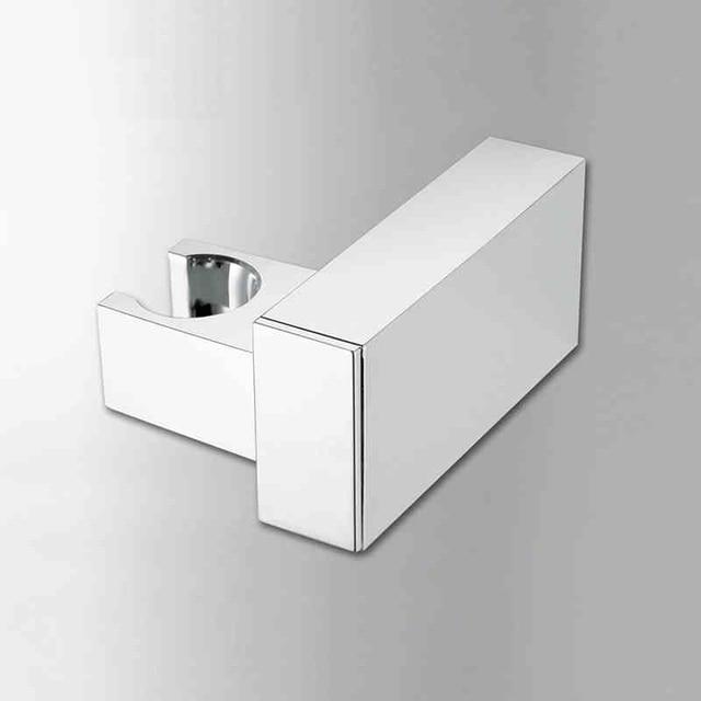 Bathroom Accessories Square Handheld Shower Faucet Holder Hook Pedestal  Bracket Brass Chrome Polish In Wall Toilet