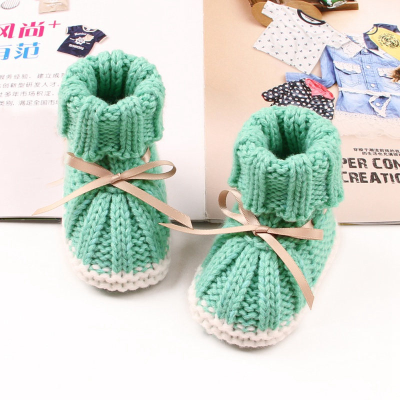 Newborn Baby Girl Shoes Non-Slip Unisex Winter Warm Baby Booties Soft Soled Infant Toddler Kids Footwear Winter Knitted Boots