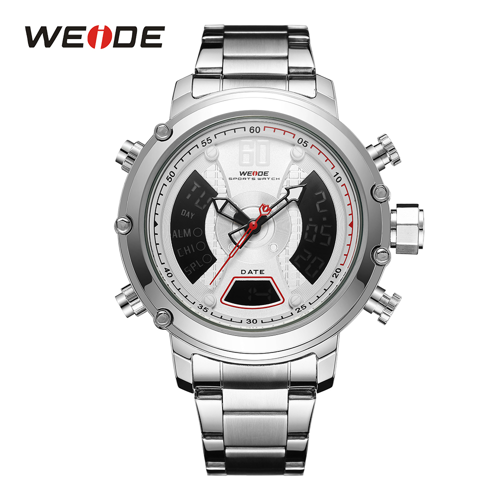 WEIDE Analog and LCD Digital Dual Display High Quality Good Performance Durable Sport Casual Business Quartz Men's Wristwatches high performance and high throughput bioinformatics