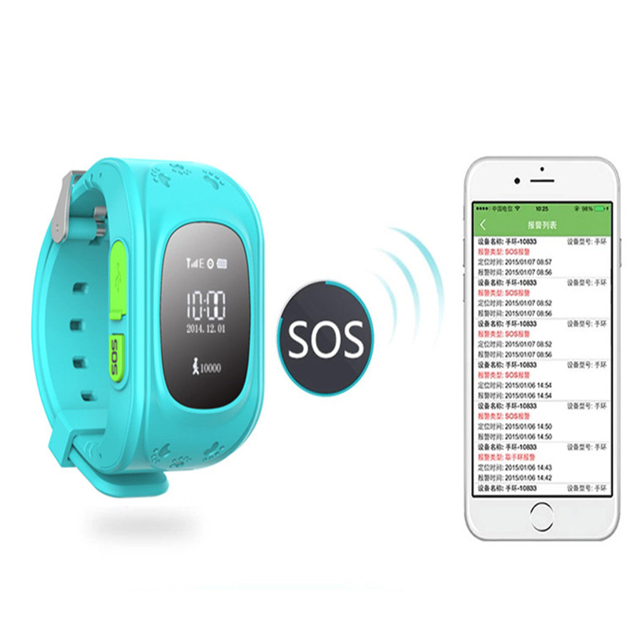 83bbb2f6e42 Q50 Safety Smart Watch Children Kids Gift GPS Tracker Smart Watch Anti Lost  Smartwatch Wearable Devices For iOS Android Phone-in Smart Watches from  Consumer ...
