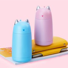 Cute Cat Thermos Cup Kids Thermo Mug Drinkware Child 330ML Water Bottle Stainless Steel Vacuum Flask Portable Leak-proof Tumbler(China)