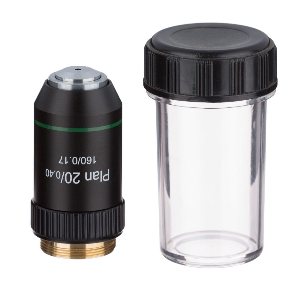 AmScope 20X Plan Achromatic Microscope Objective Lens with Black Finish PA20X-BAmScope 20X Plan Achromatic Microscope Objective Lens with Black Finish PA20X-B