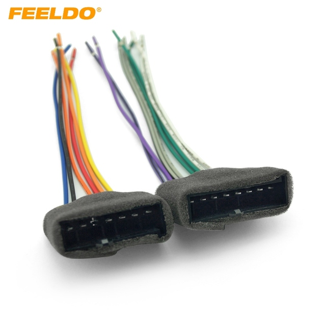 feeldo 1pair car radio audio stereo amplifier sub interface wire 1994 ford mustang wiring harness feeldo 1pair car radio audio stereo amplifier sub interface wire harness for ford 1987 1993