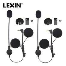 2 PCS di Marca Lexin citofono Auricolare e Clip di Set Accessori per LX-R6 Bluetooth Del Casco Citofono intercom Cuffie Spina Martinetti