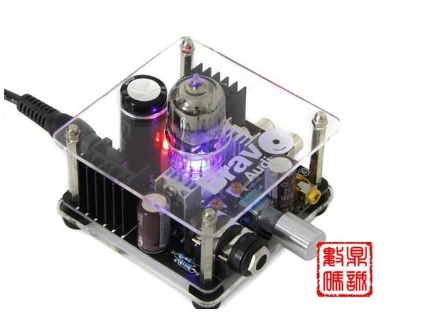 Bravo AUDIO V2 12 au7 máquina bile tubo eletrônico amplificador amplificador de fone de ouvido
