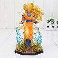 7 ''18 CM Anime Dragon Ball Z Figura de Ação Goku Super Saiyan 3 Figuras de Ação De Dragon Ball Z Son Goku PVC Toy Collectible