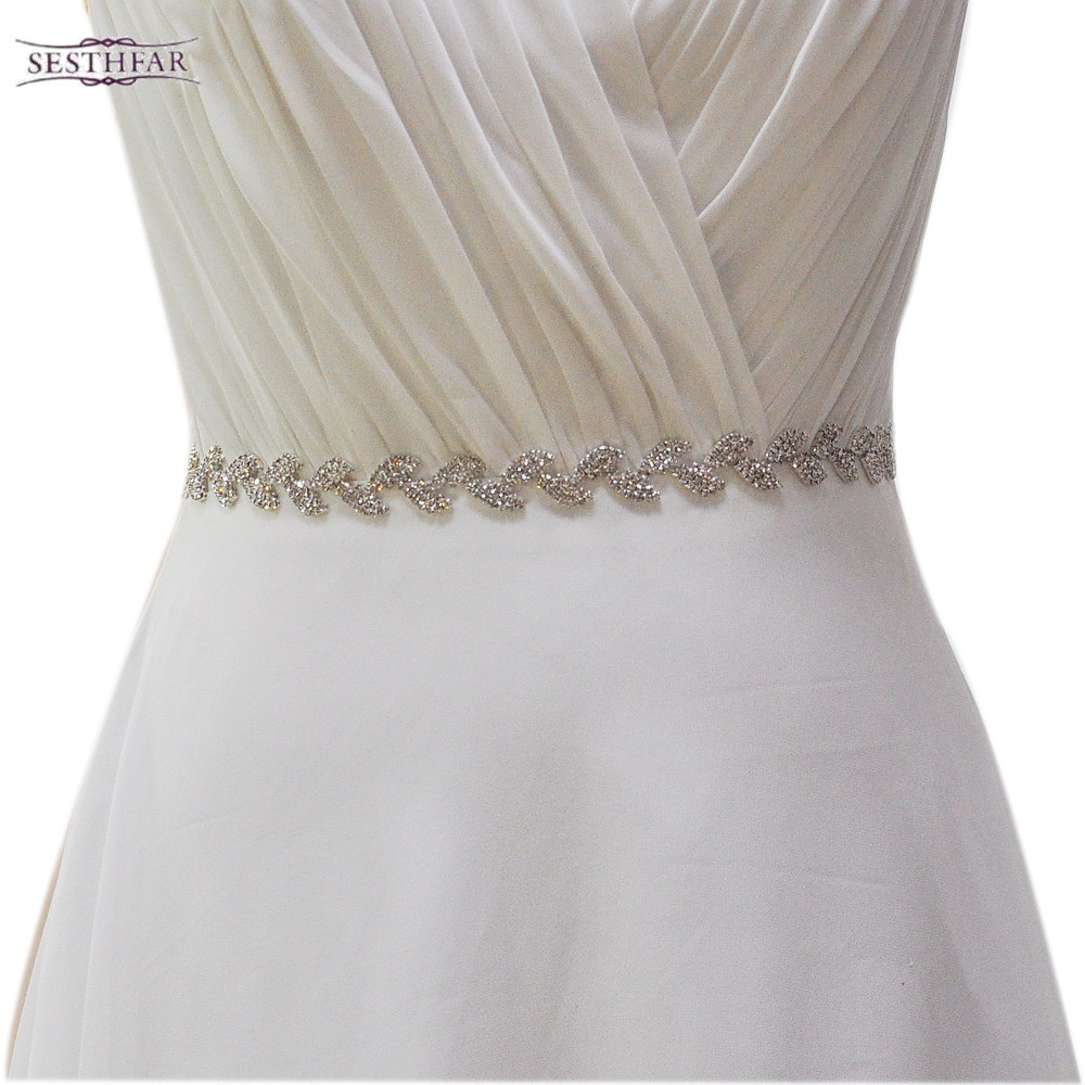 Wedding Belt Leaf shape Rhinestone Bridal Sash Evening Dress Belt Women's Rhinestone Belts For Wedding Dress s198-s