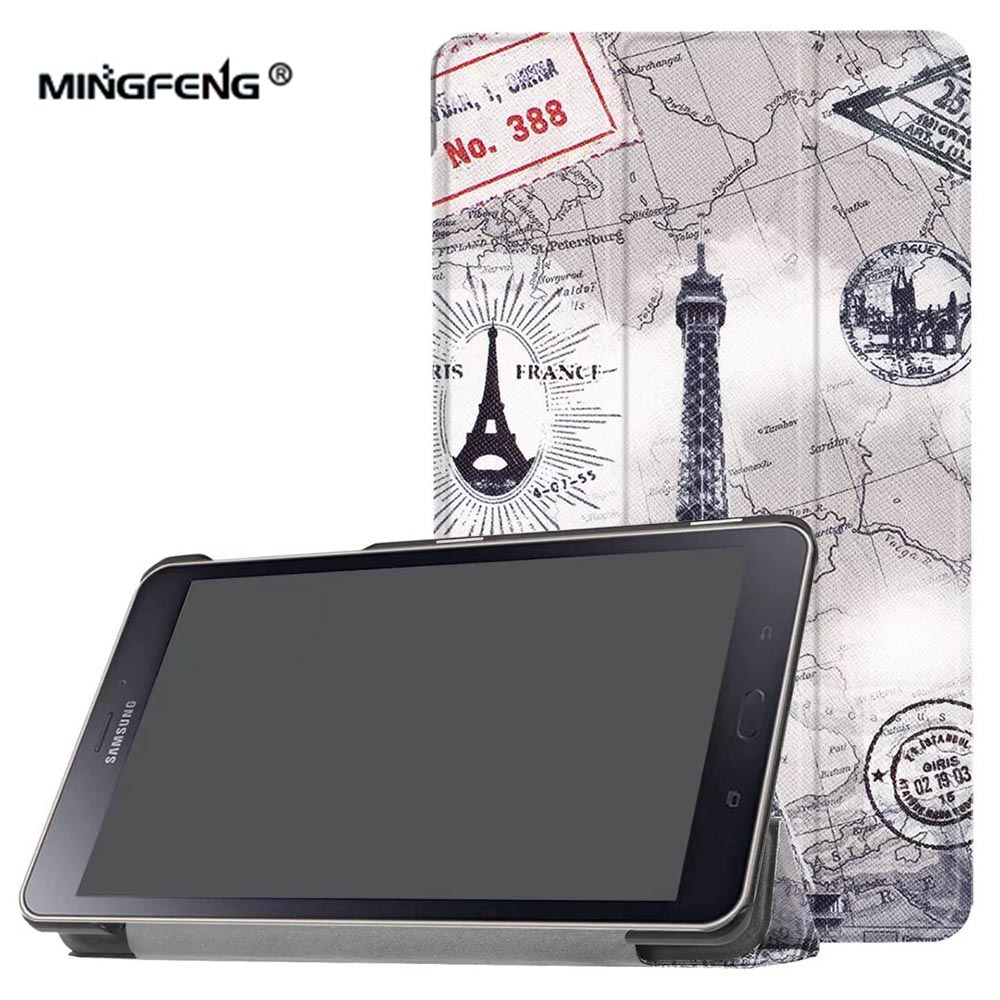 For Samsung Galaxy TAB A 8.0 2017 SM-T380 Case Paint PU Leather Case for Samsung TAB A 8.0 2017 SM-T385 Tablet Case Stylus Pen cartoon colorful case for samsung galaxy tab a 8 0 t380 sm t385 2017 smart cover funda tablet stand pu leather shell film pen