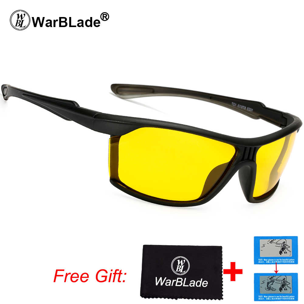bca2afec6ac1 WarBLade Mens Polarized Night Driving Sunglasses Women Yellow Lense Night  Vision Driving Glasses Goggles Reduce Glare