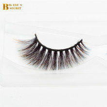 New Fashional Colorful 3D strip lashes Faux Mink Eyelash Extension Factory new custom branded eyelashes 3d mink