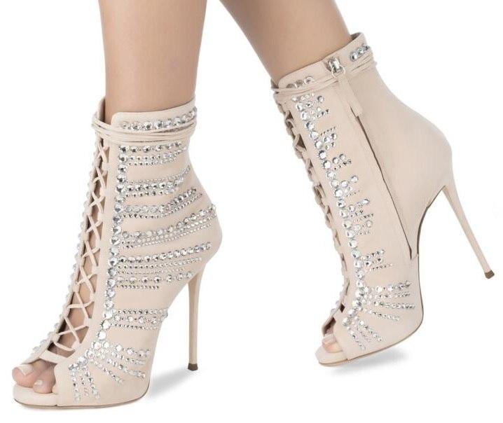 7634f922db9 Cristal Cruz Rosa Mujer Botas Color Venta Caliente Fiesta As Toe Zapatos  Decoración De Sandalias Showed ...