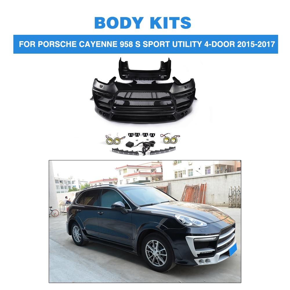 Body kits front rear bumper side skirts wheel arch for porsche cayenne 958 s sport utility
