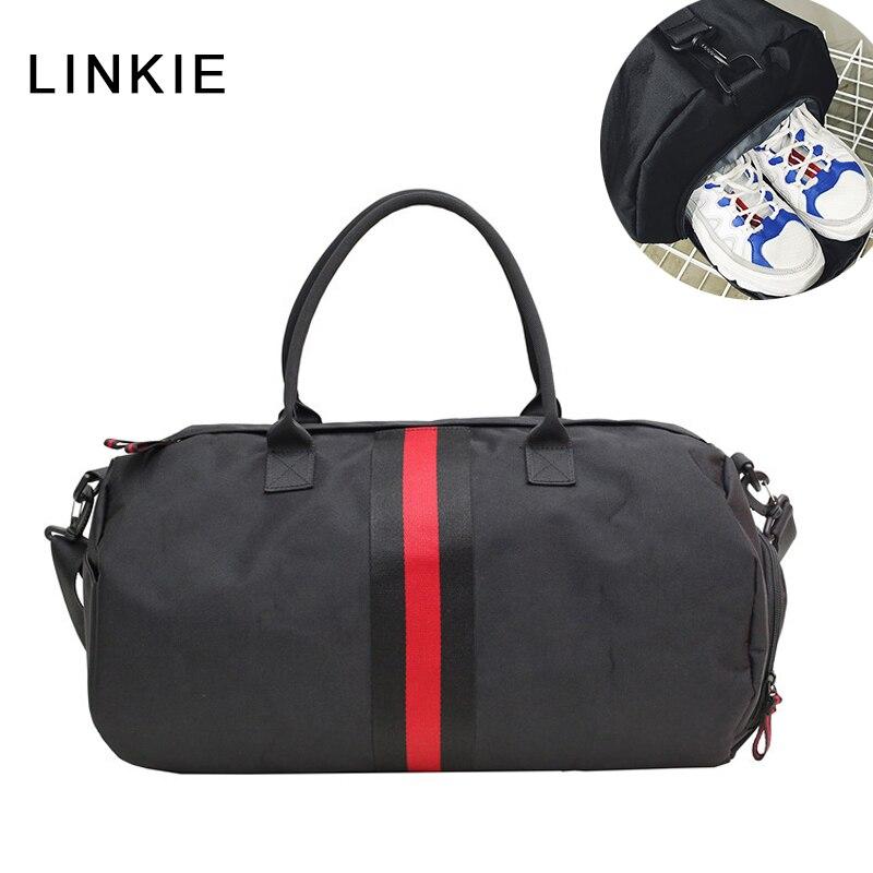 886a47ae1c33 Hot Outdoor Sports Gym Bags for Men Women Nylon Waterproof Training Fitness  Travel Handbag Yoga Mat
