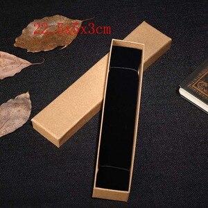 Image 2 - 2019 새로운 20 개/몫 브라운 크래프트 종이 보석 상자 선물 패키지 상자 주최자 매력 반지 시계 귀걸이 보석 상자 도매