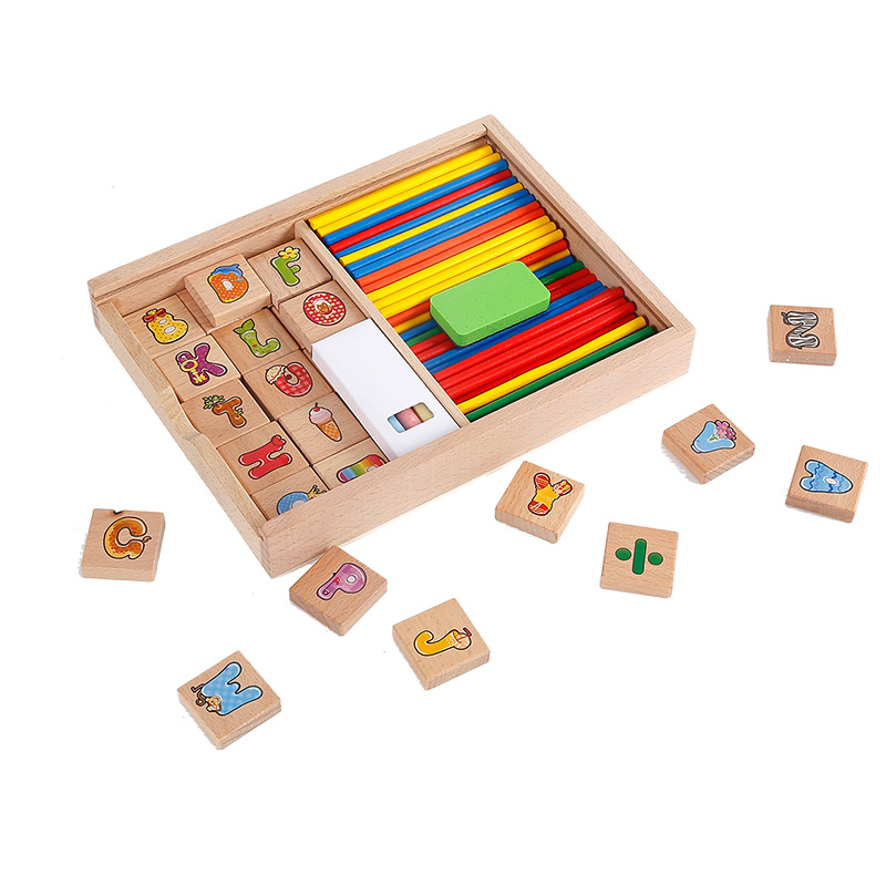 Childrens mathematics learning box digital stick kindergarten mathematics early childhood educational computing teaching aids