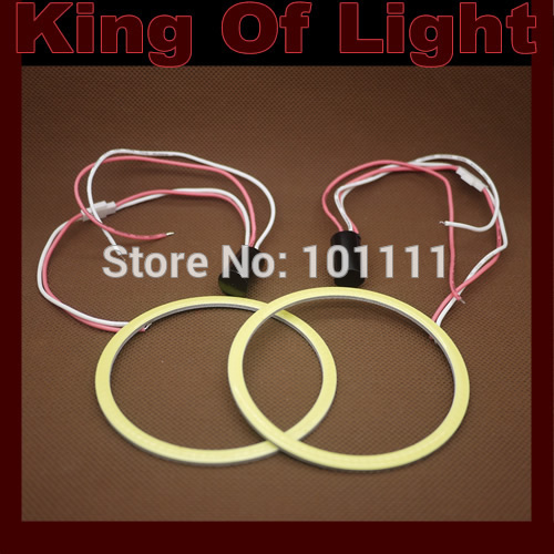 2X 80mm Angel Eye COB Halo Ring Halo Light Waterproof LED Lighting With 2 Lampshades free shipping