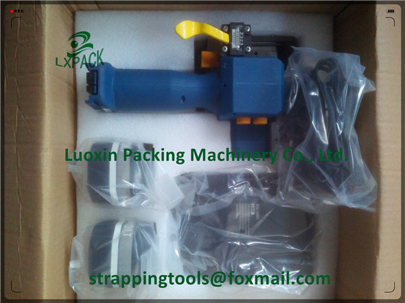 battery-driven strapping hand tool with display for pre-selection battery strapping machine strapping tool PP PET plastic straps цена