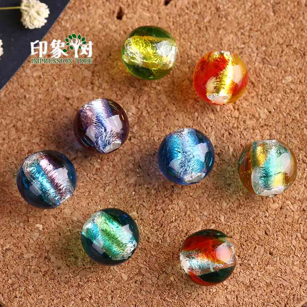 Radient 12mm 10pcs Sands Powder Handmade Lampwork Glazed Beads Transparent Japanese Crystal Round Spacer Beads Diy Jewelry Makings 1604 Jewelry & Accessories Beads