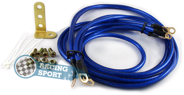 Cable Grounding Kit : For universal car points grounding cable wire kit blue
