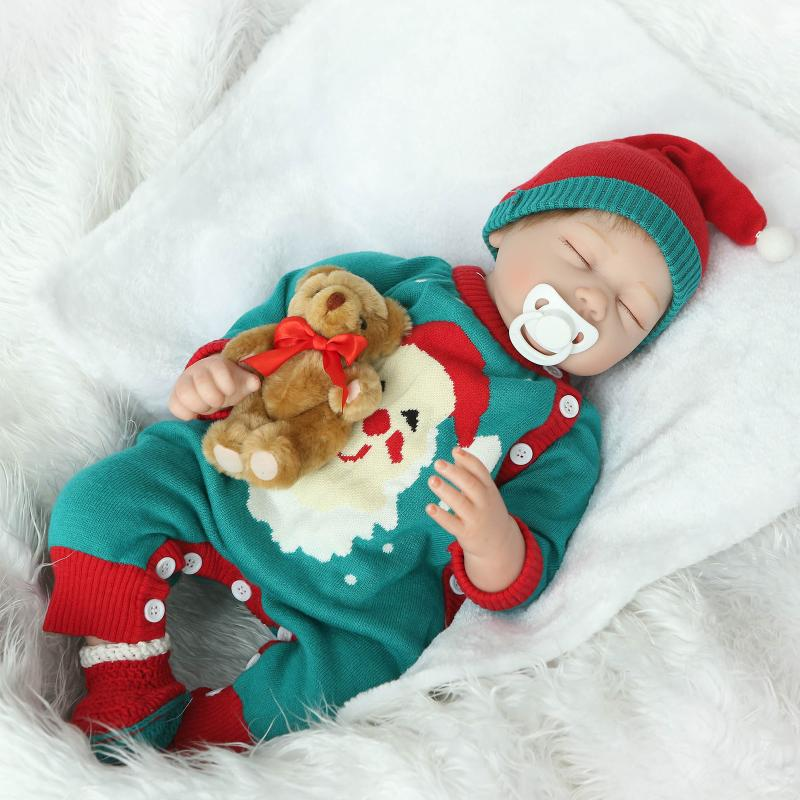 New 22inch newborn babies cloth body doll reborn boneces lifelike soft dolls fashion doll Toy For Christmas gift New year gifts 2016 cotton body reborn babies lifelike princess girls doll toy rooted mohair gift for baby reborn poupon brinquedos new year