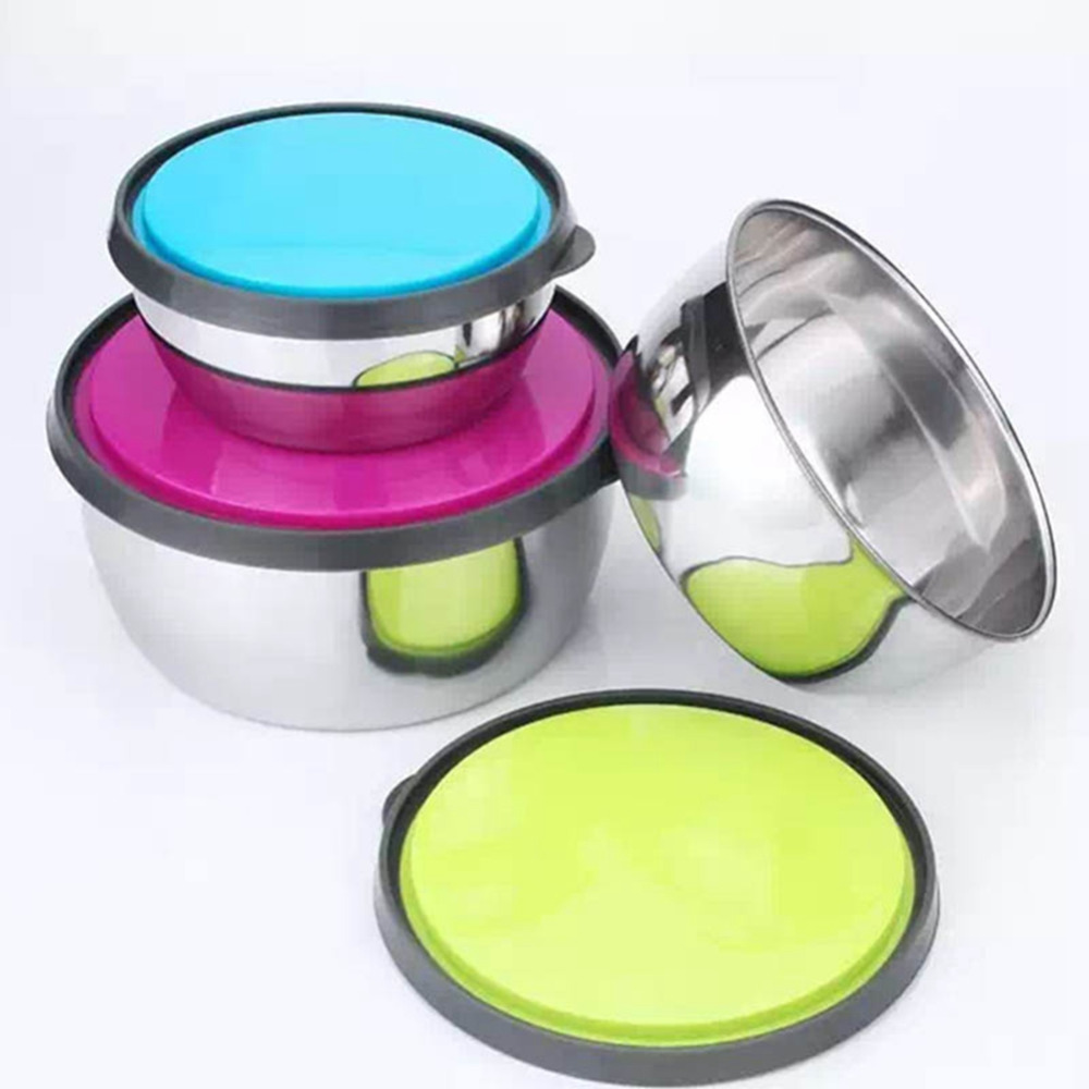 3pcs Stainless Steel Sealed Bowls with Lids Lunch Box Leak Proof Bento Box Kids Picnic School Food Container Fresh Keeping Box|Lunch Boxes| |  - title=
