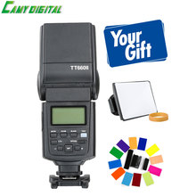 Godox TT660II GN58 Flash Light Speedlite flashgun with LCD Screen+Softbox+Color Filter Kit For Canon/Nikon/Pentax DSLR,etc
