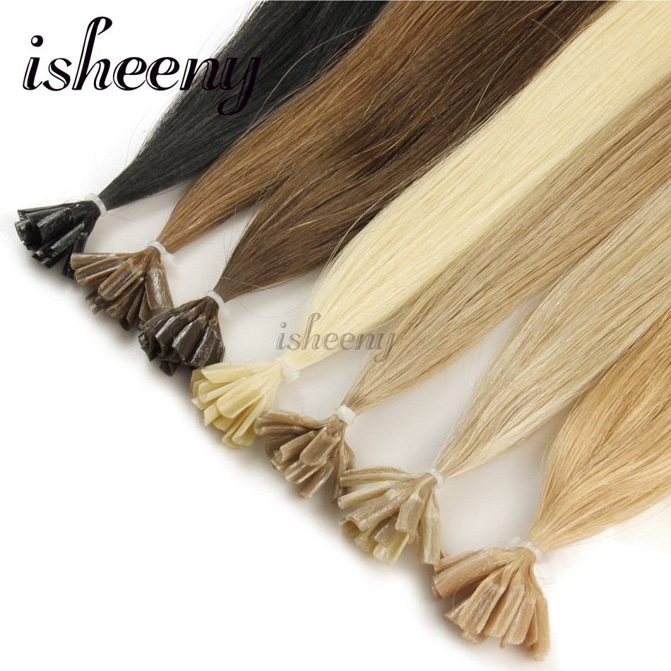 Isheeny 10pcs Fusion Nailu Tip Hair Extensions 14 18 22 Remy