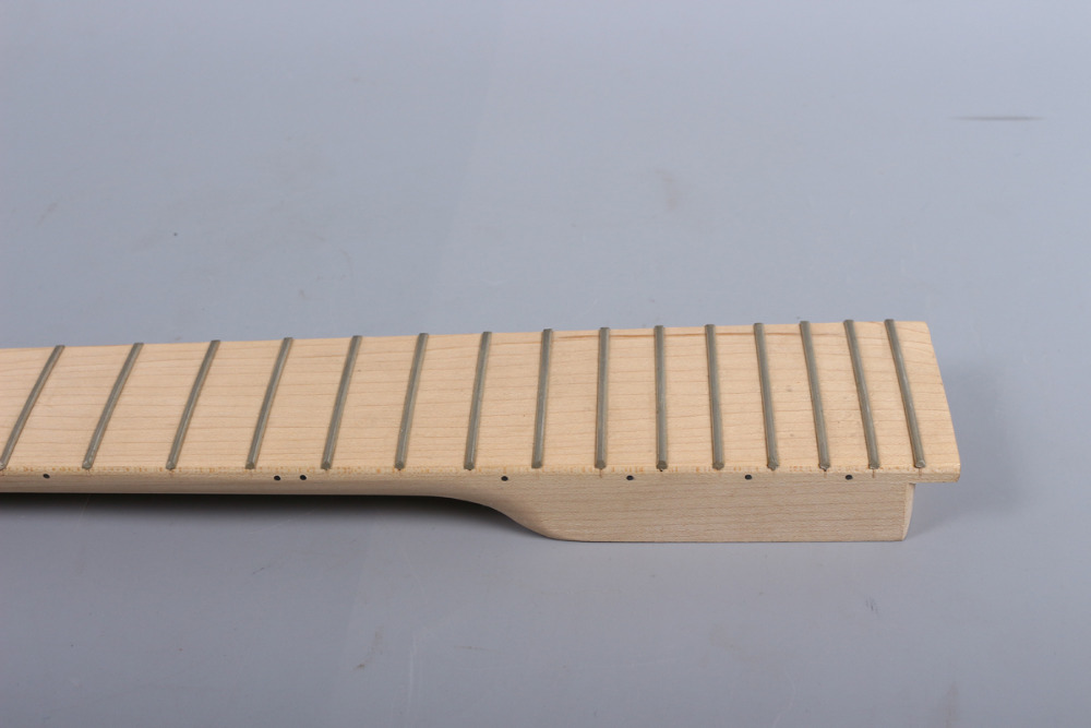 Electric guitar neck Maple and maple wood Fretboard 22 fret 25.5 no inlay nut width 43mm 1x electric guitar neck mahogany maple wood fretboard truss rod 22 fret 25 5