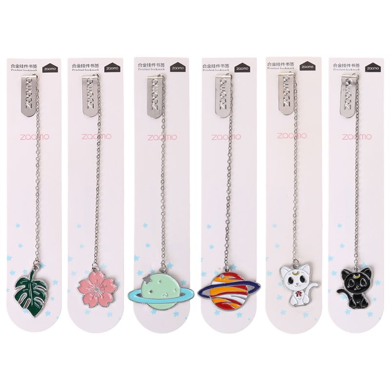 Cat Sakura Chain Marker Bookmark Page Clip School Office Supplies Stationery Student Gifts