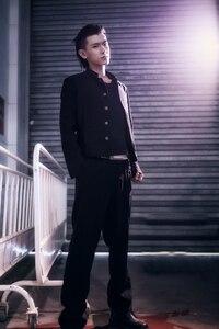 Image 5 - Di Trasporto del Nuovo Giapponese anziano medio scuola uniforme Suzura degli uomini di sesso maschile giacca sportiva sottile tunica cinese giacca top Coreano cappotto