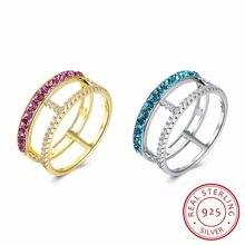 Lekani кристалл и горный хрусталь квадратный дизайн палец кольцо