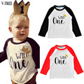 V-TREE Children's T-shirt Long-sleeved Animal Cartoon T-shirts For Boys And Girls Tops Kids Clothes Spring Costmue For Children