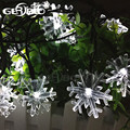 Solar Snowflake Fairy String Lights for Christmas Garden Fence Path Landscape Decoration 2PCS/LOT