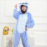 Groothandel flanel vrouwen leuke sleeper verdikking cartoon dieren die de home volwassen size footed pyjama pyjama jumpsuit