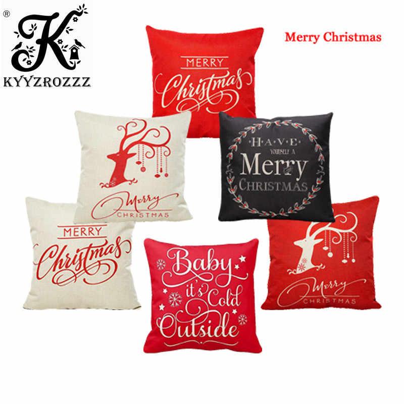 クリスマス Pilow クリスマスギフトクリスマス枕カバー格安クッションカバーソファークリスマス装飾 Cojines