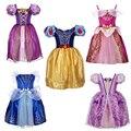 2016 Nueva moda Niños Niños Cosplay vestidos Más Reciente Cinderella Elsa Vestidos Baby Girls Princesa fancy Party Ropa