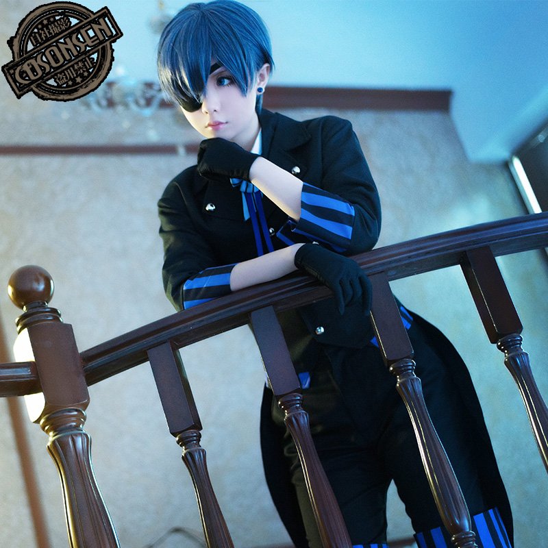 Black Butler Book of the Atlantic Ciel Phantomhive Cosplay Costume COSPLAYONSEN Full Set All Size