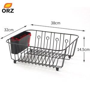 Image 3 - Orz袋水切り乾燥ラック金属キッチンシンクのためのプレートボウルカップ食器棚バスケット